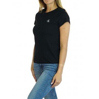 CALVIN KLEIN JEANS moteriški ekologiškos medvilnės marškinėliai 2