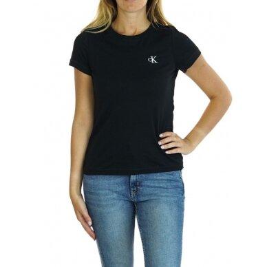 CALVIN KLEIN JEANS moteriški ekologiškos medvilnės marškinėliai